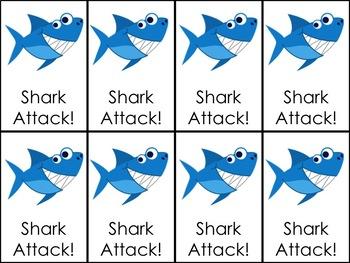Shark Attack CVC Words + S Blends