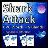 Shark Attack CVC Words + S Blends