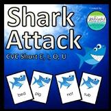 Shark Attack CVC Words Short E, I, O, & U