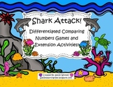Shark Attack! Differentiated Comparing Numbers Small Group Games and Extensions!