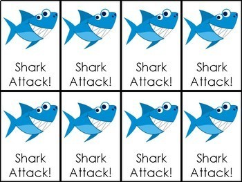 Shark Attack SH, CH, TH, WH Digraph Pictures
