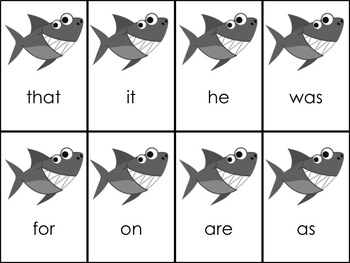 Shark Attack First 100 Fry Sight Words Bundle