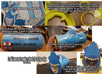 Shark Attack Mega Bundle!!!Add,Subt,Div & Multi facts Games.