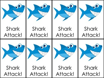 Shark Attack Mixed Vowel Word Families: -ick, -ack, -ock, -uck