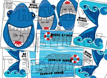 Shark Attack!!! Multiplication facts Game.