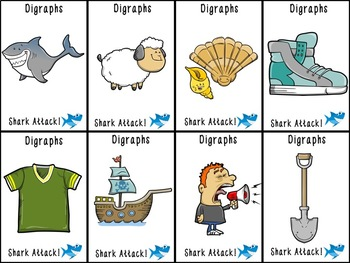 Shark Attack S, H, and SH Digraph