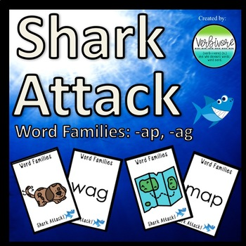 Shark Attack Same Vowel Word Families: -ap & -ag