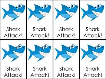 Shark Attack Same Vowel Word Families: -ot, -op, -og