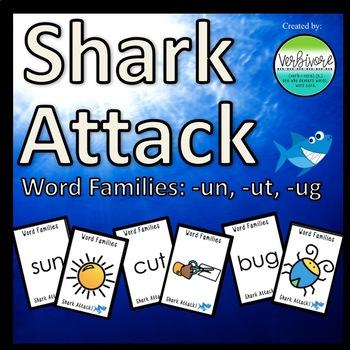 Shark Attack Same Vowel Word Families: -un, -ut, -ug