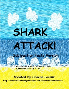 Shark Attack Subtraction Game (Facts up to 10)