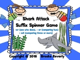 Shark Attack Suffix Spinner Game (-er, est)