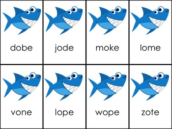 Shark Attack VCe Long Vowel Bundle - 10 Games in all!