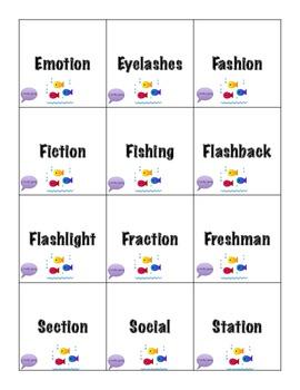 Shark Bait /sh/ Articulation Game - EXPANSION PACK - /sh/ medial