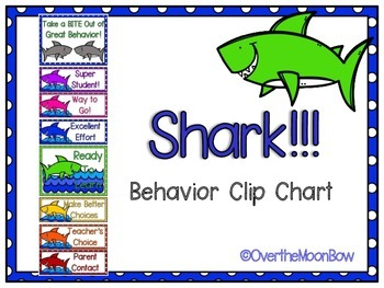 Shark!!! Behavior Clip Chart