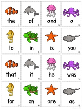 Shark Bite! A Printable Sight Word Packet for the First 100 Fry Words