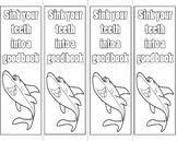 Shark Coloring Bookmark