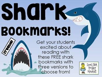 Shark Bookmarks - FREEBIE