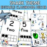 Shark Editable Classroom Decor Pack