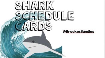 Shark Classroom Theme Schedule Cards