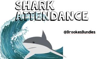 Shark Classroom Theme Attendance Tracker