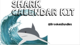 Shark Classroom Theme Calendar Kit