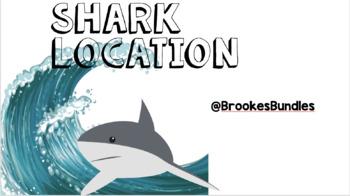 Shark Classroom Theme Location Cards