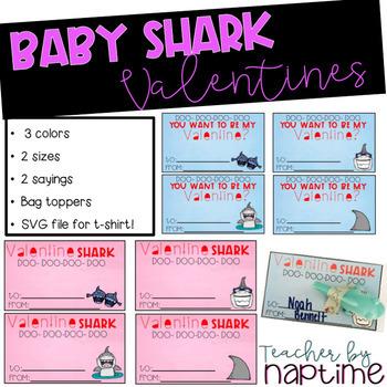 Shark Classroom Valentine Kit