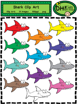 Shark Clip Art - Personal and Commercial Use