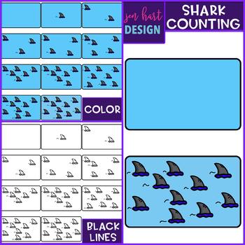 Shark Clip Art - Shark Counting {jen hart Clip Art}