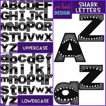Shark Clip Art - Shark Letters {jen hart Clip Art)