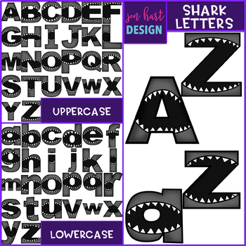 Shark Clip Art - Shark Mega BUNDLE {jen hart Clip Art}