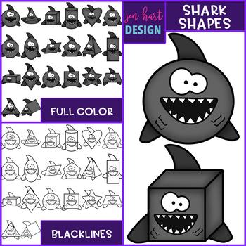 Shark Clip Art - Shark Shapes {jen hart Clip Art}