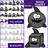 Shark Clip Art - Shark Shapes {jen hart Clip Art}