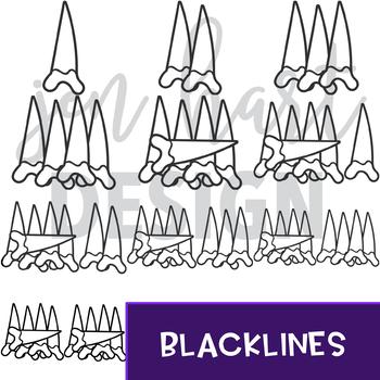 Shark Clip Art - Shark Tally Marks {jen hart Clip Art}