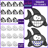 Shark Clip Art - Shark Ten Frames {jen hart Clip Art}