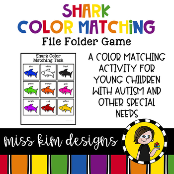 Shark Color Matching Folder Game for Early Childhood Special Education