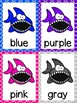 Shark Color Word Posters & Memory Cards (Dollar Deal)