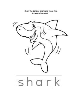 Shark Coloring Page By Printable Pre K Teachers Pay Teachers