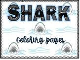 Shark Coloring Pages (Shark Week)