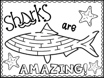 Shark Coloring Pages Shark Week By Purple Palmetto Tpt