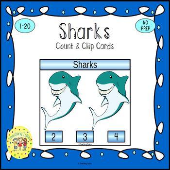 Sharks Clip Task Cards