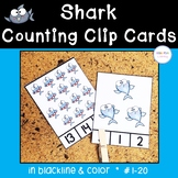 Shark Counting Clip Cards