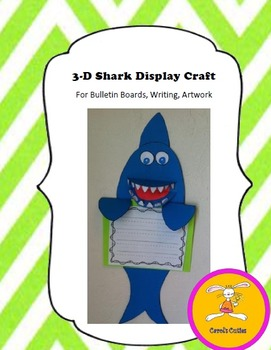 Shark Craft for Writing, Bulletin Boards,or Art-