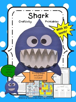 Shark Craft Craftivity and cvc/cvce games