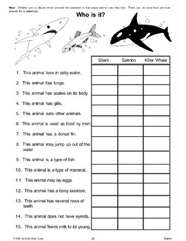 Shark Crossword Puzzle