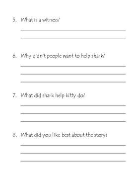 Shark Detective Comprehension Questions