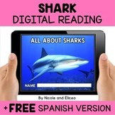 Shark Reading Comprehension for Google Classroom