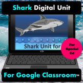 Shark Digital Unit Google Classroom   Distance Learning