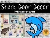 Shark Door / Bulletin Board Decor (EDITABLE)