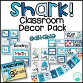 Shark! Editable Classroom Decor Pack
